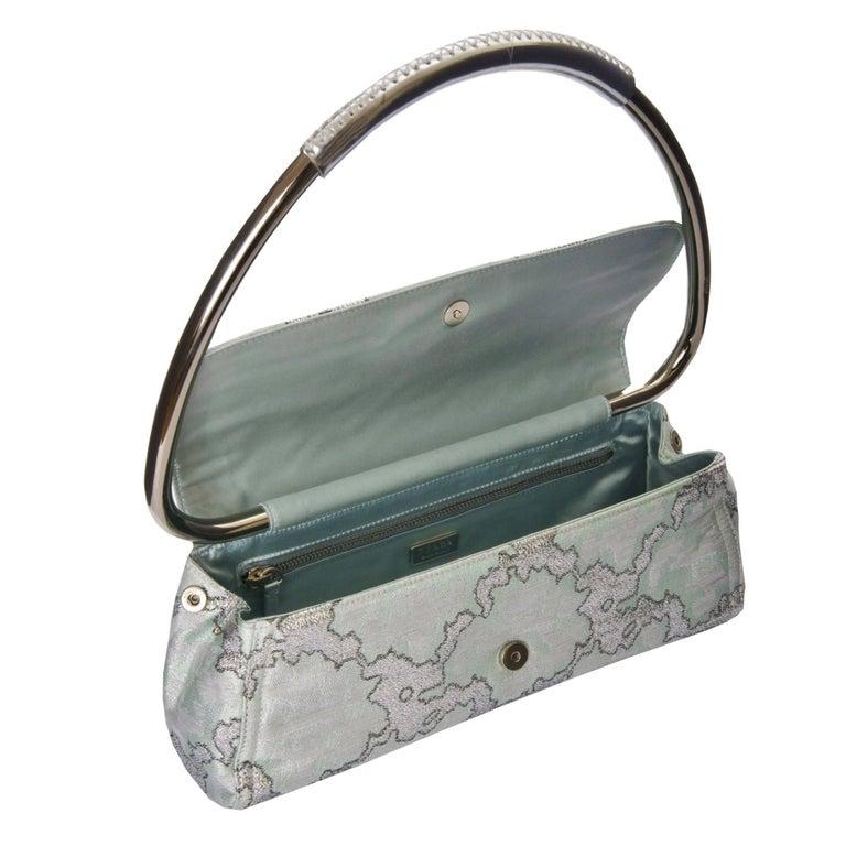 New Rare Prada Limited Edition Lurex Swing Corset Bag For Sale 2