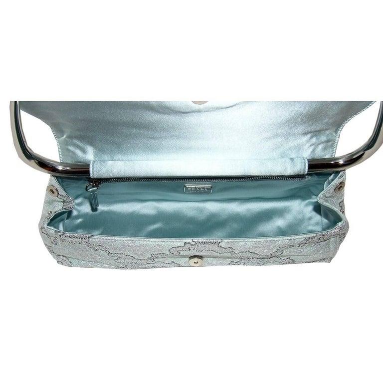 New Rare Prada Limited Edition Lurex Swing Corset Bag For Sale 4
