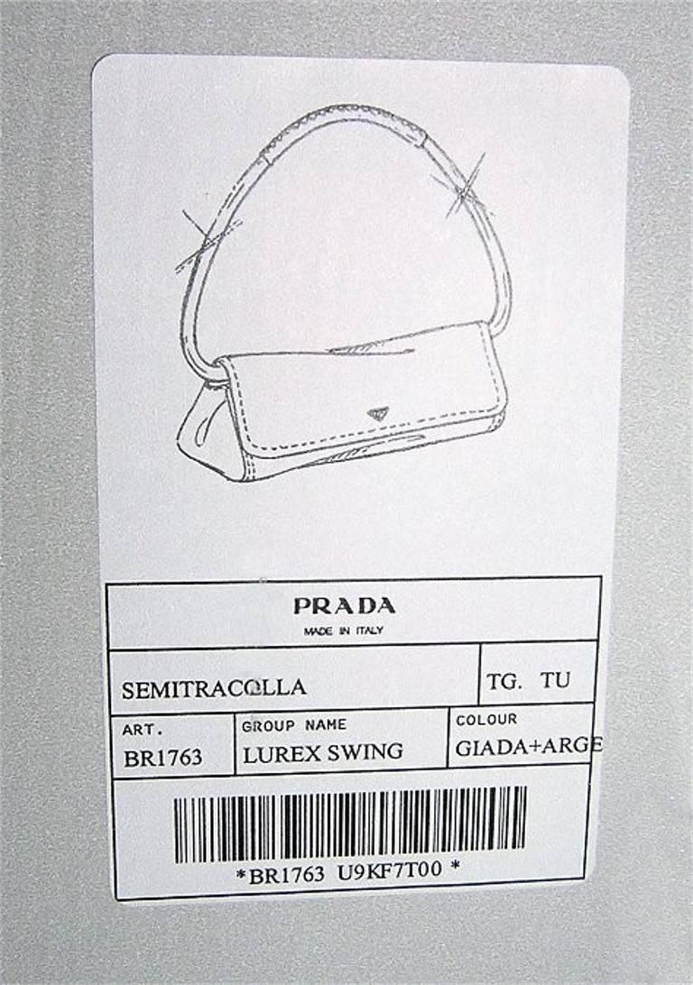 New Rare Prada Limited Edition Lurex Swing Corset Bag For Sale 6