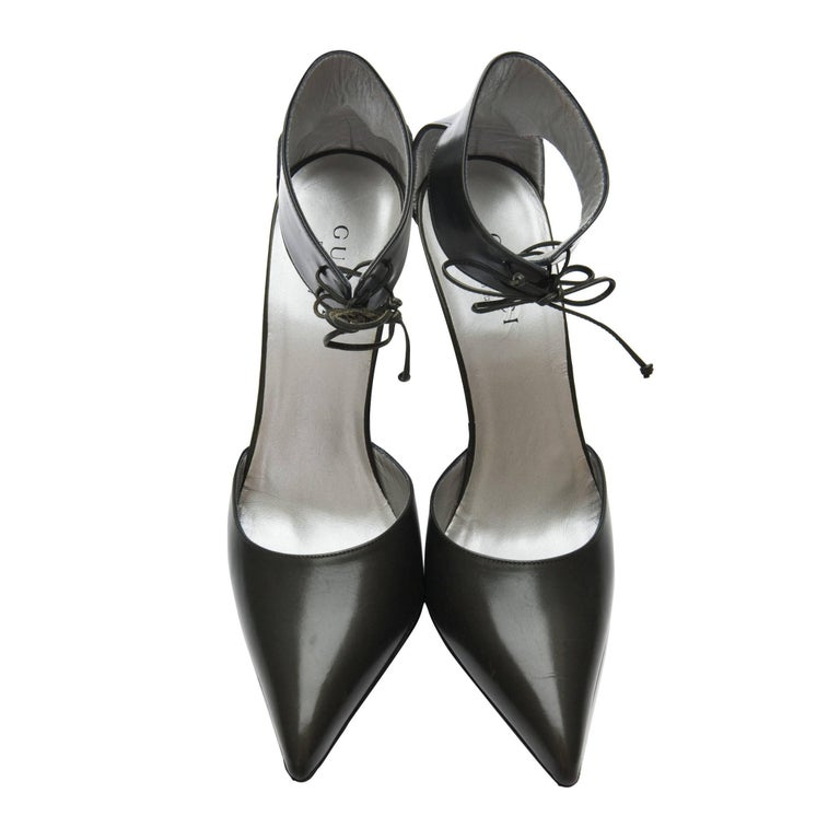 New Rare Tom Ford for Gucci Kate Moss Ad Runway Heels Pumps Sz 40 For Sale 3