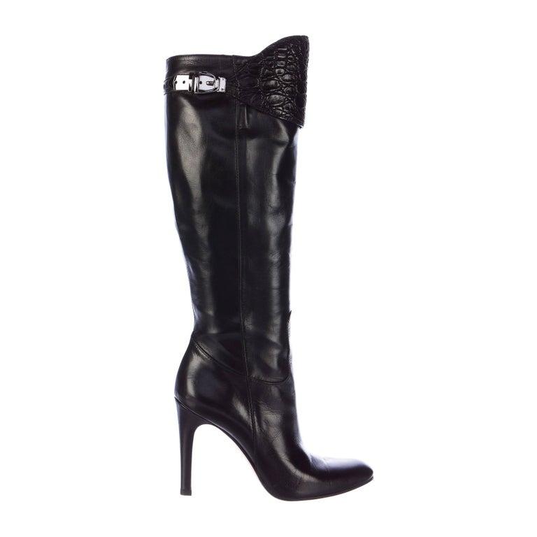 New Size 6 Rare Gucci Alligator & Leather Boots