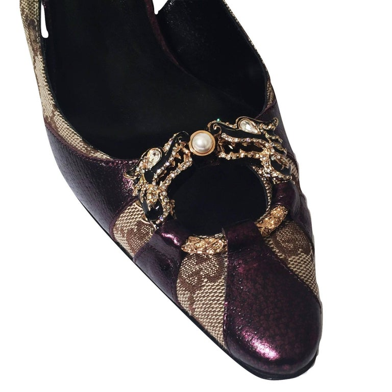 New Tom Ford for Gucci Dragon Ad Runway Heels Pumps Sz 37 In New Condition For Sale In Leesburg, VA