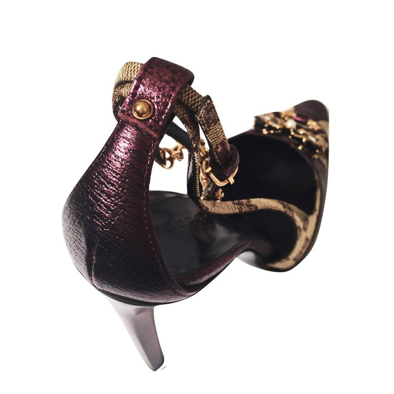 New Tom Ford for Gucci Dragon Ad Runway Heels Pumps Sz 37 For Sale 7