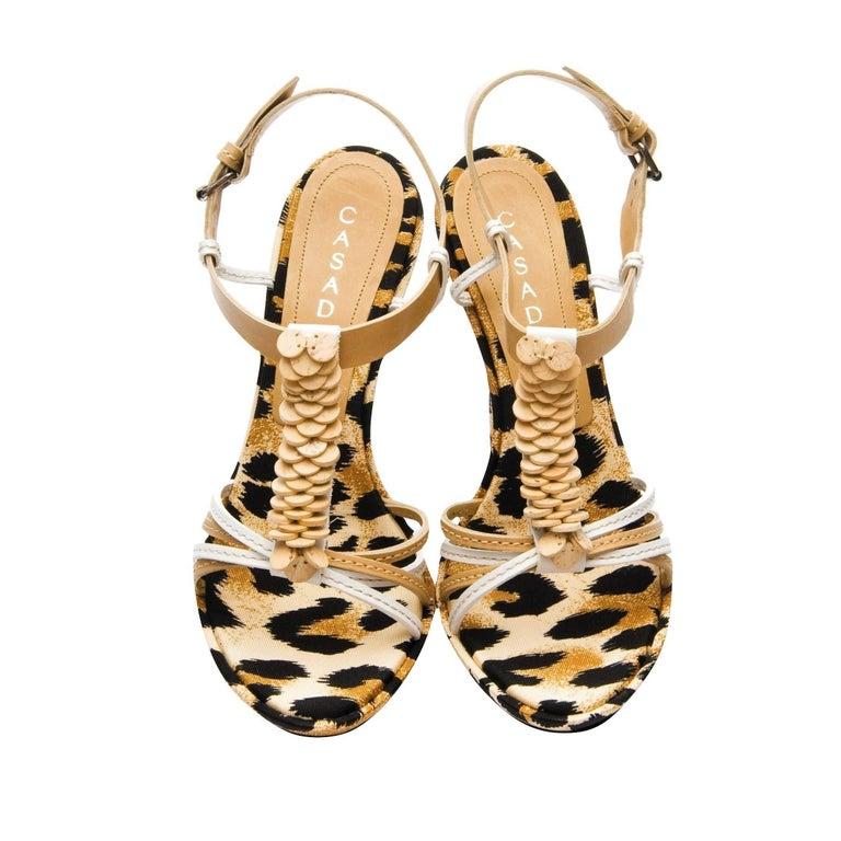 Casadei Leopard Platform Heels In New Condition For Sale In Leesburg, VA