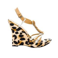 Casadei Leopard Platform Heels