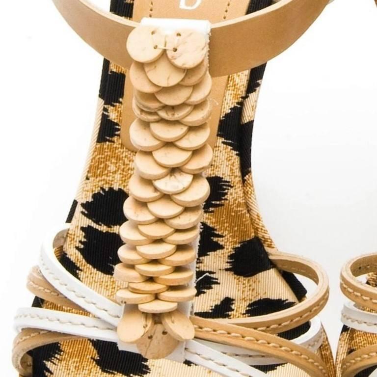 Black Casadei Leopard Platform Heels For Sale