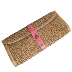 New Spring 2005 Collection Kate Spade Wicker Straw Rattan Clutch Bag
