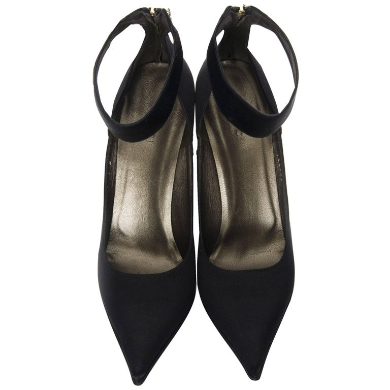 New Tom Ford for Gucci Swarovski Rosario Dawson Ad Runway Heels Pumps Sz 7 For Sale 2