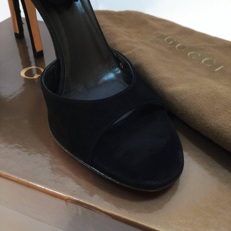 New Gucci Mink Suede Heels Pumps Size 9 For Sale 10