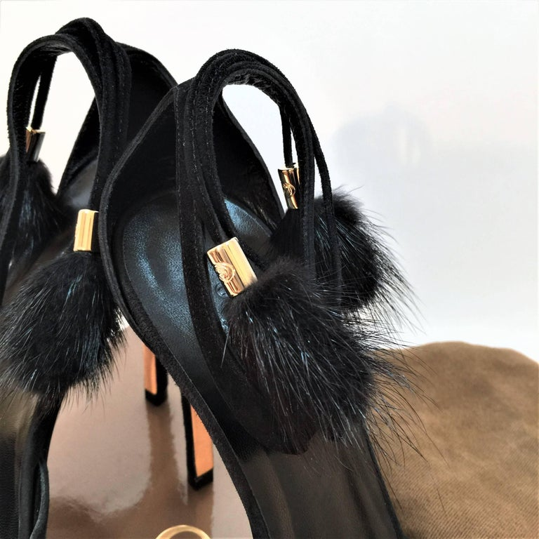 New Gucci Mink Suede Heels Pumps Size 9 For Sale 8
