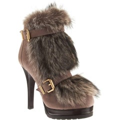 Fendi Rare Fur Boots Booties