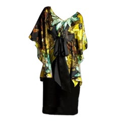 New Badgley Mischka New Couture Silk Cocktail Dress Sz 6