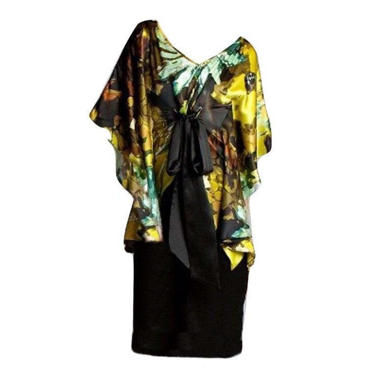Badgley Mischka New Couture Silk Cocktail Dress