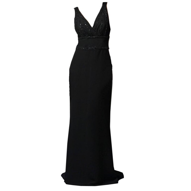 New Size 4 Badgley Mischka Couture Beaded Evening Dress Gown For ...