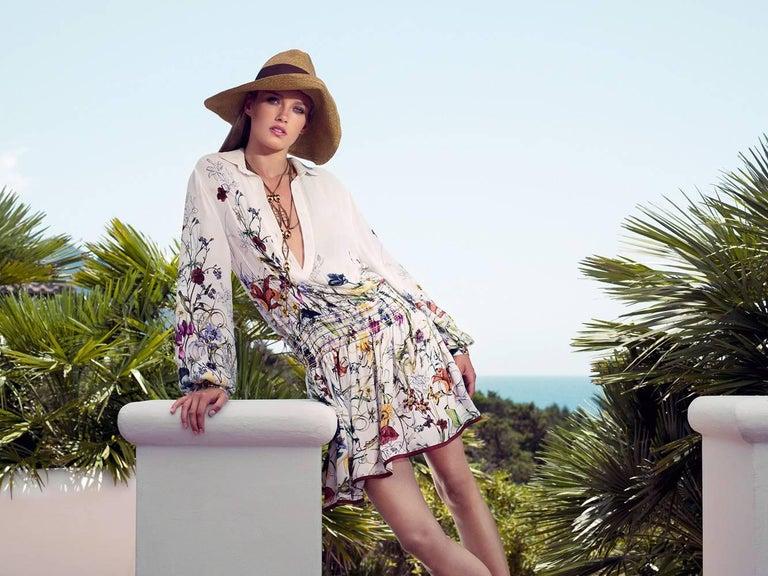 Women's New Gucci Flora Horsebit Mules Heels Pumps Floral Sz 39 For Sale