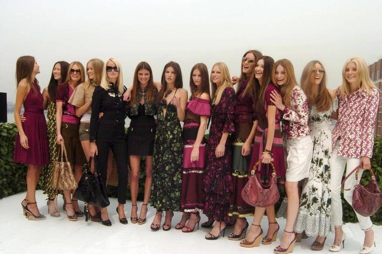 New Gucci Flora Horsebit Mules Heels Pumps Floral Sz 39 For Sale 4
