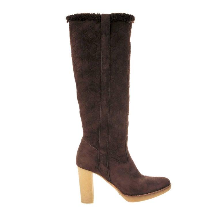 New Size 10 Rare Gucci Shearling GG Boots