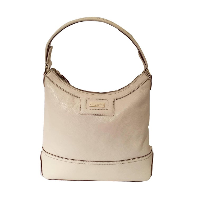 Kate Spade Large Off White Leather Bag, Spring 2005 Collection