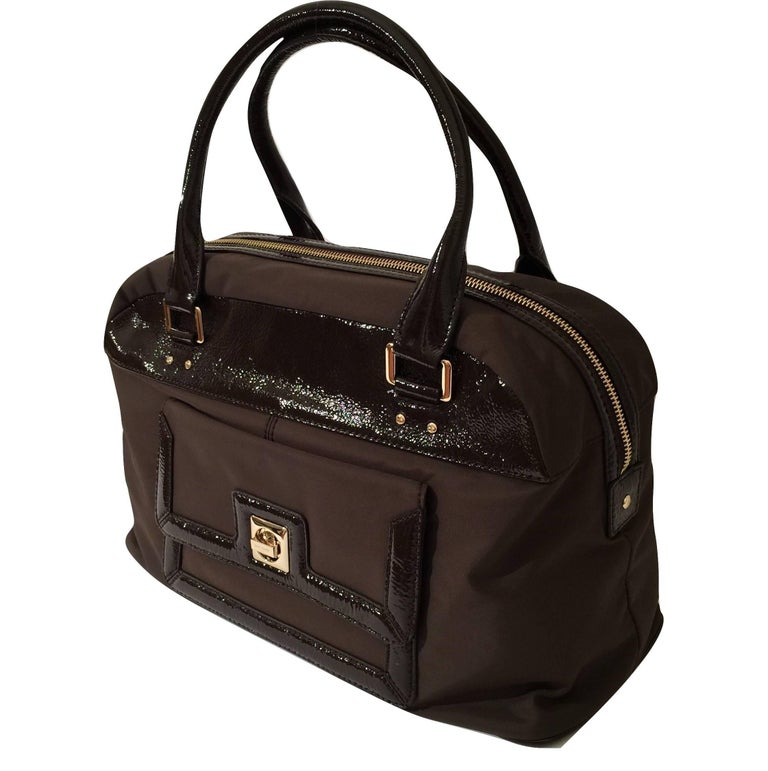 Kate Spade Large Brown Patent Satchel Bag, Fall 2005 Collection