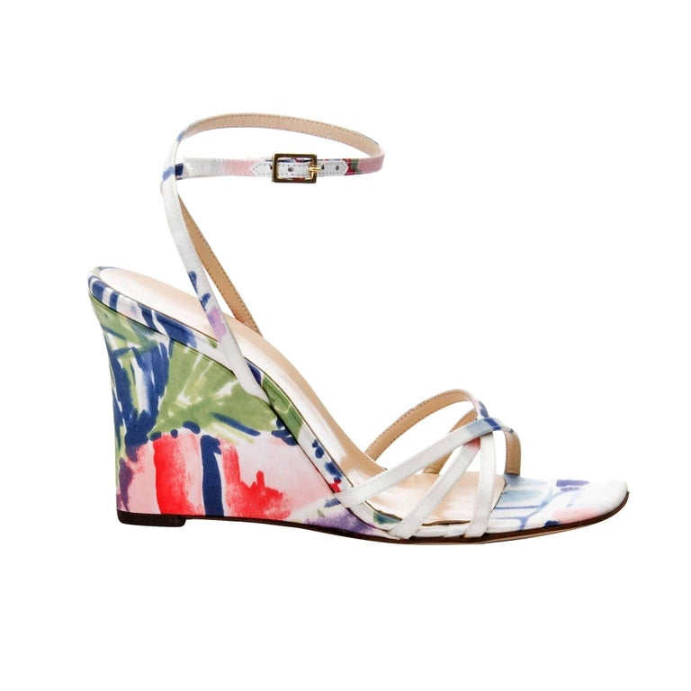 New Size 6 Kate Spade Spring 2005 Collection floral Wedge Heels