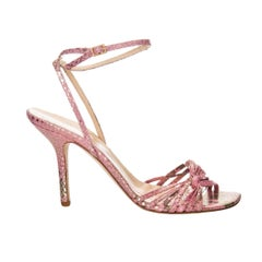 New Size 8 Kate Spade Her Spring 2005 Collection Snakeskin Print Fabric Heels