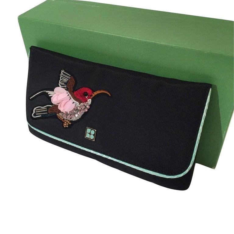 New Kate Spade Spring 2005 Snakeskin Bird Clutch Wristlet Bag  For Sale 4