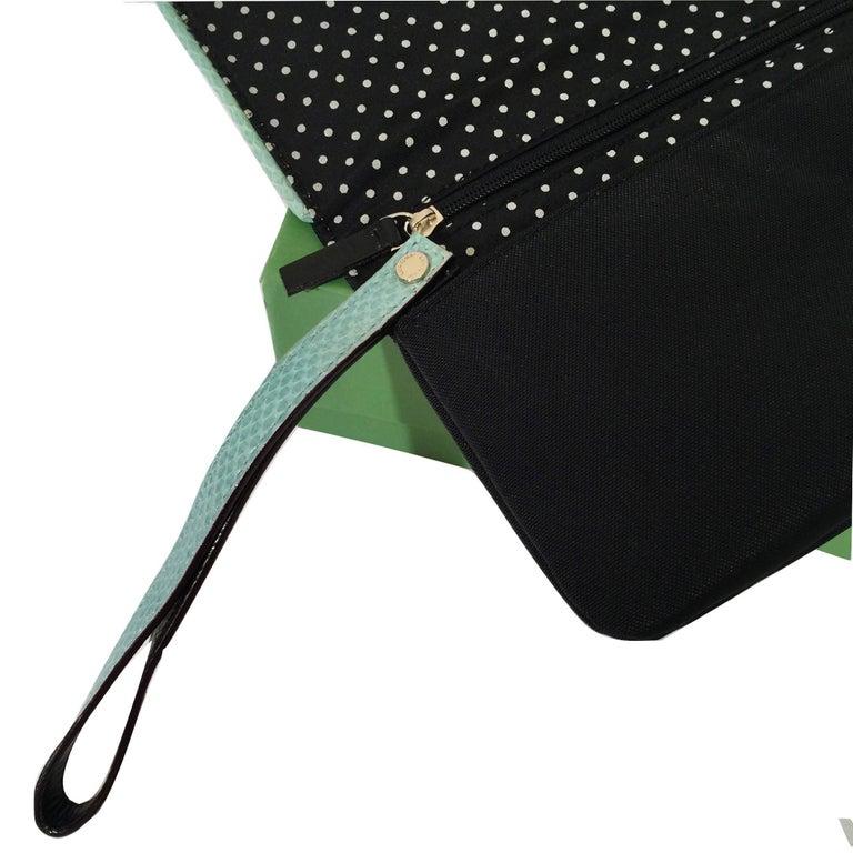 New Kate Spade Spring 2005 Snakeskin Bird Clutch Wristlet Bag  For Sale 5