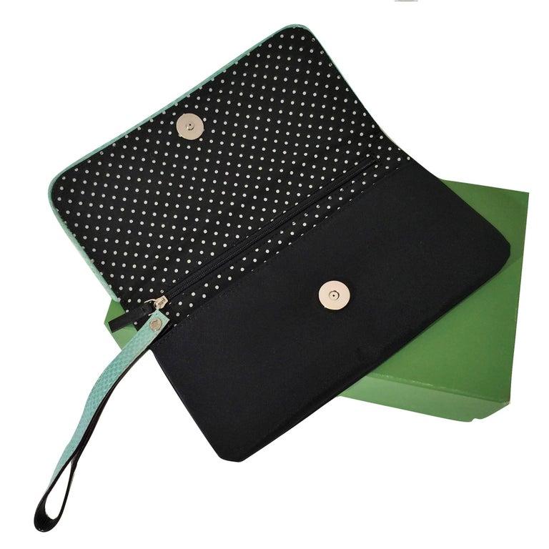 New Kate Spade Spring 2005 Snakeskin Bird Clutch Wristlet Bag  For Sale 2