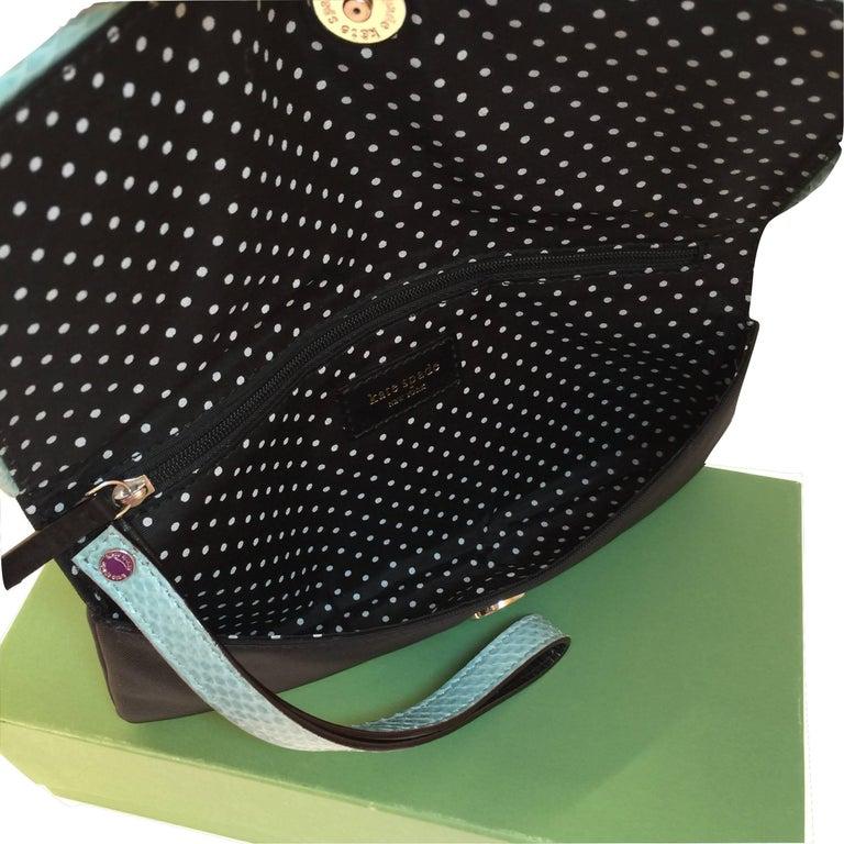 New Kate Spade Spring 2005 Snakeskin Bird Clutch Wristlet Bag  For Sale 1