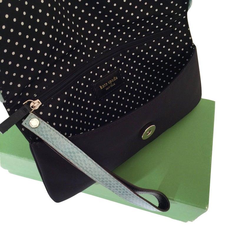 New Kate Spade Spring 2005 Snakeskin Bird Clutch Wristlet Bag  For Sale 7