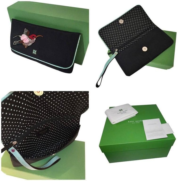 Brown New Kate Spade Spring 2005 Snakeskin Bird Clutch Wristlet Bag  For Sale