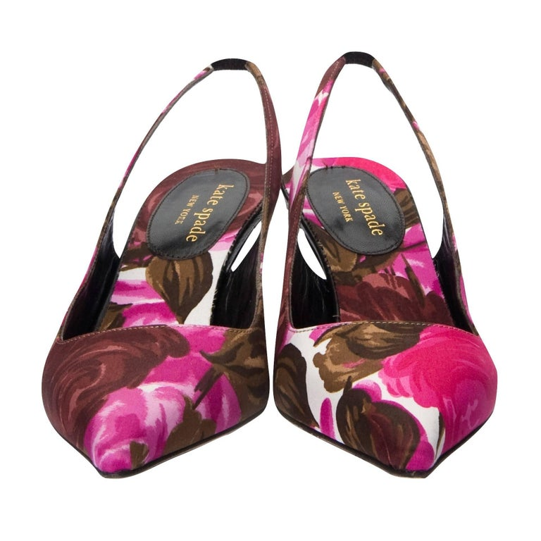 New Size 6 Kate Spade Spring 2005 Collection Floral Heels