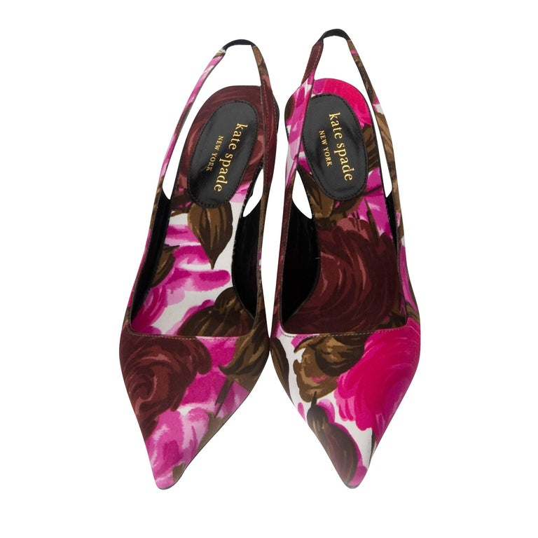 New Size 6 Kate Spade Her Spring 2005 Collection Floral Heels For Sale 1