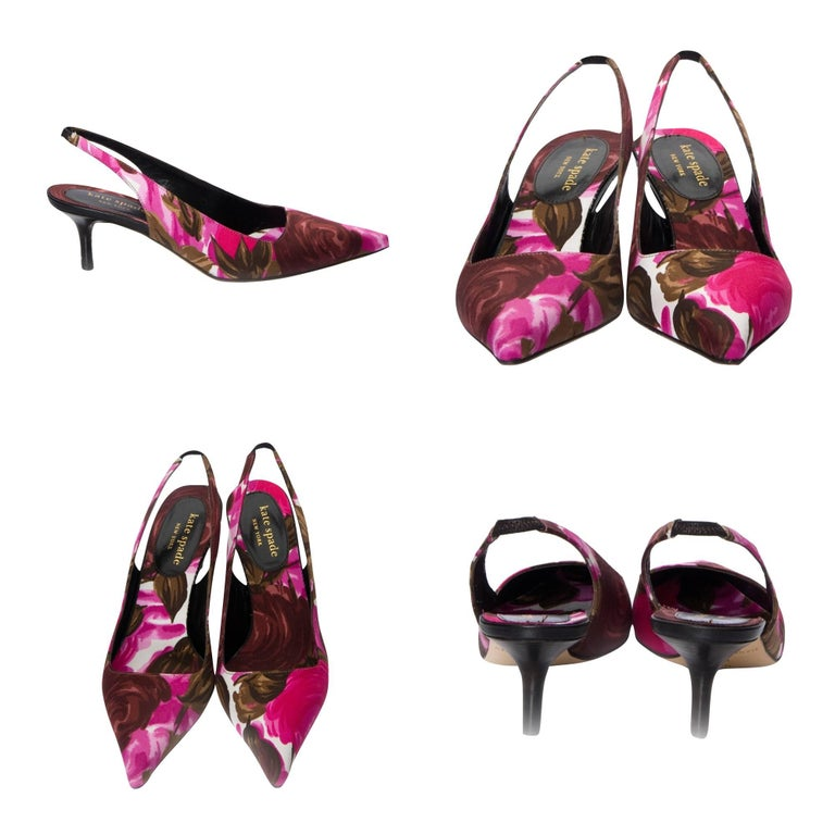 Kate Spade Spring 2005 Collection Floral Heels In New Condition For Sale In Leesburg, VA
