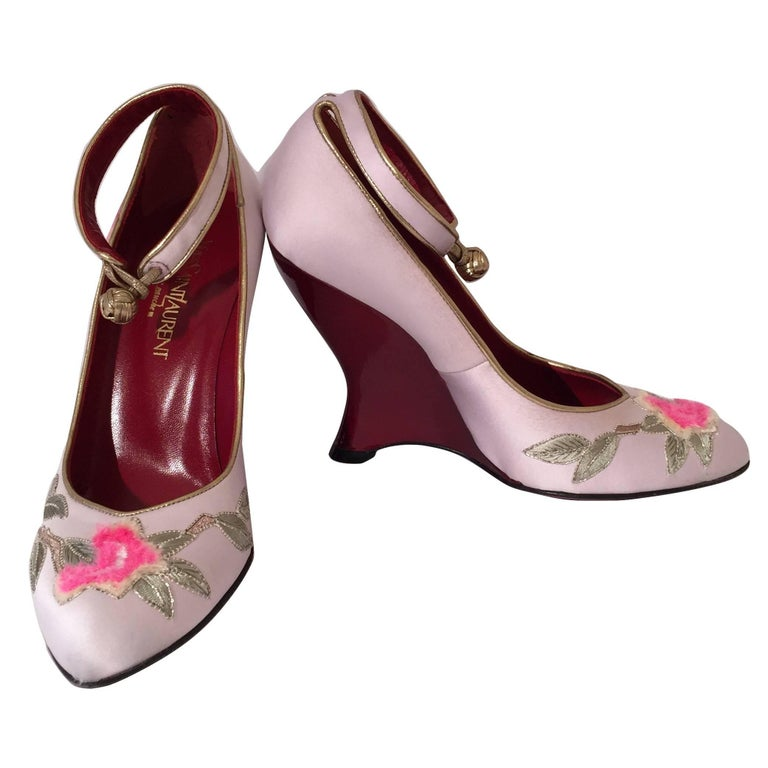 New Tom Ford for Yves Saint Laurent YSL Lotus Heels Final Collection 200 Sz 36.5 For Sale 3