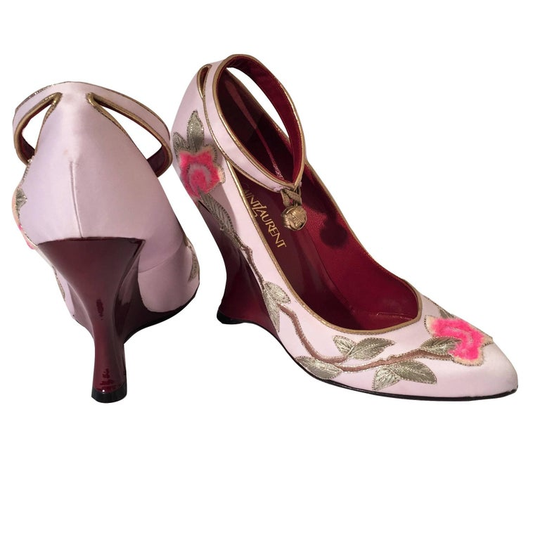 New Tom Ford for Yves Saint Laurent YSL Lotus Heels Final Collection 200 Sz 36.5 For Sale 10