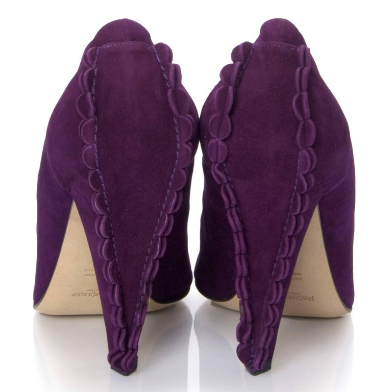Women's New Tom Ford for Yves Saint Laurent YSL Suede Heels Pumps Sz 37 For Sale