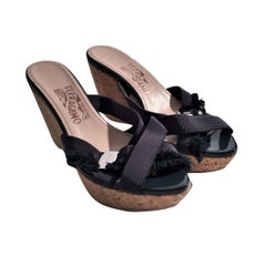 New Size 8 Salvatore Ferragamo Wedge Platform Heels