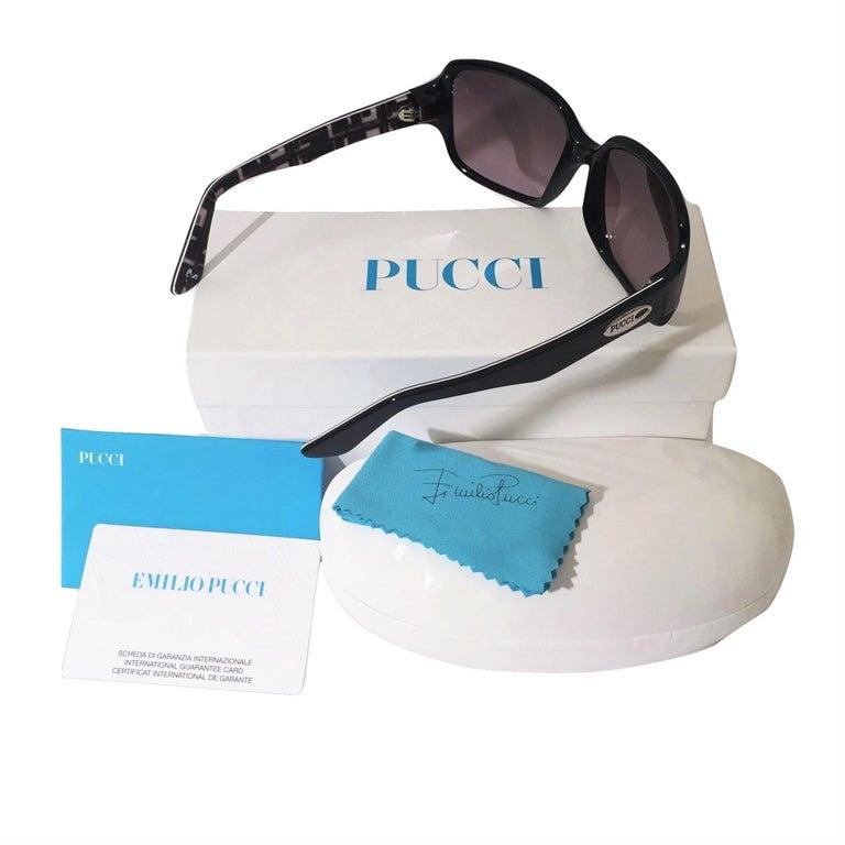 New Emilio Pucci Black Logo Sunglasses