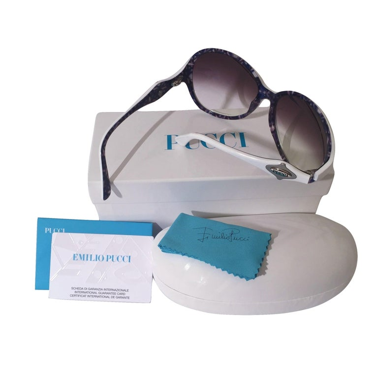 Emilio Pucci New White Logo Sunglasses