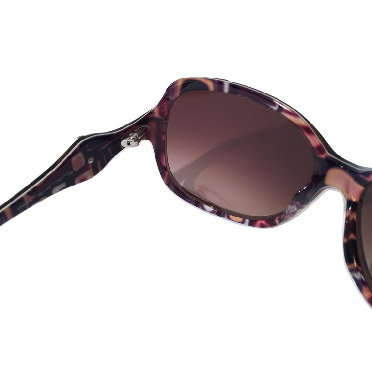 New Emilio Pucci Brown Logo Sunglasses With Case & Box For Sale 7