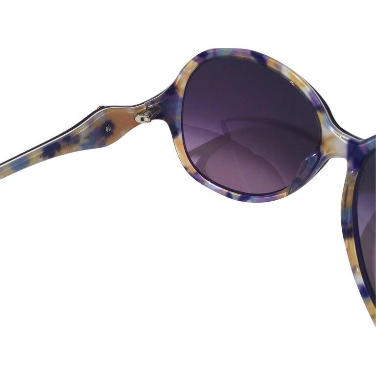 New Emilio Pucci Purple Logo Sunglasses  With Case & Box For Sale 6