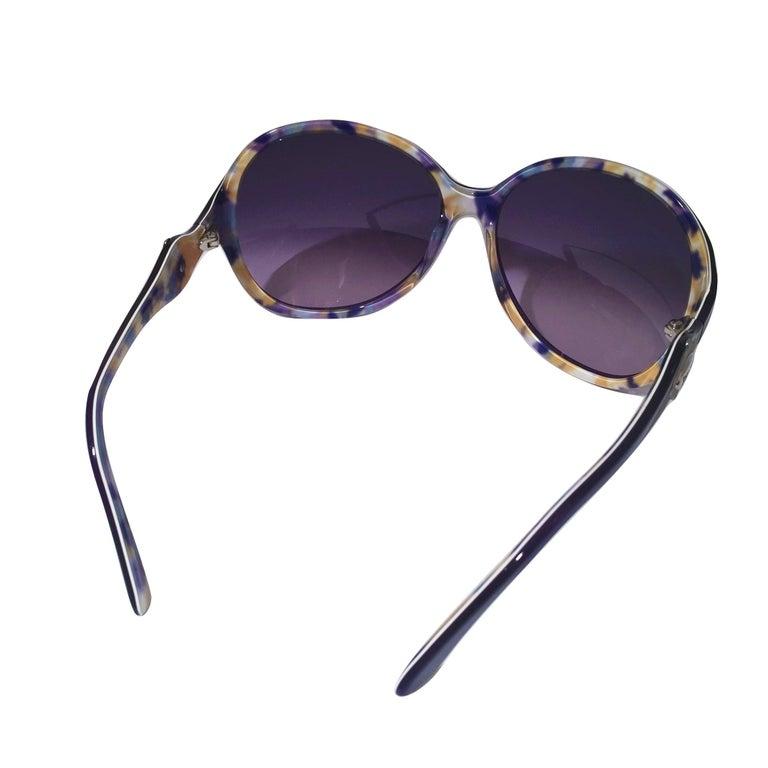 Women's New Emilio Pucci Purple Logo Sunglasses  With Case & Box For Sale
