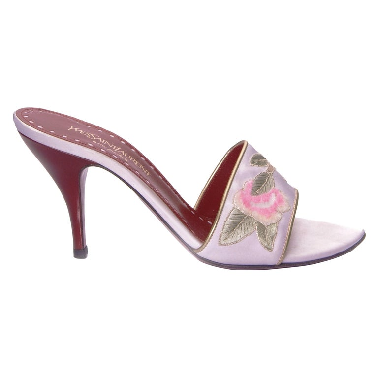 Women's New Tom Ford for Yves Saint Laurent YSL Lotus Heels Final Collection 2004 Sz 38 For Sale
