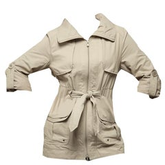 Kenneth Cole New Beige Jacket Coat With Travel Pouch