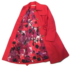 Kenneth Cole New Poppy Sateen Coat Jacket Trench