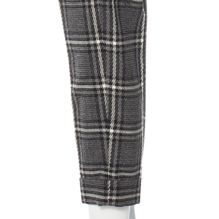 Women's New Gucci Runway Wool Plaid Pants Slacks Sz 44 For Sale