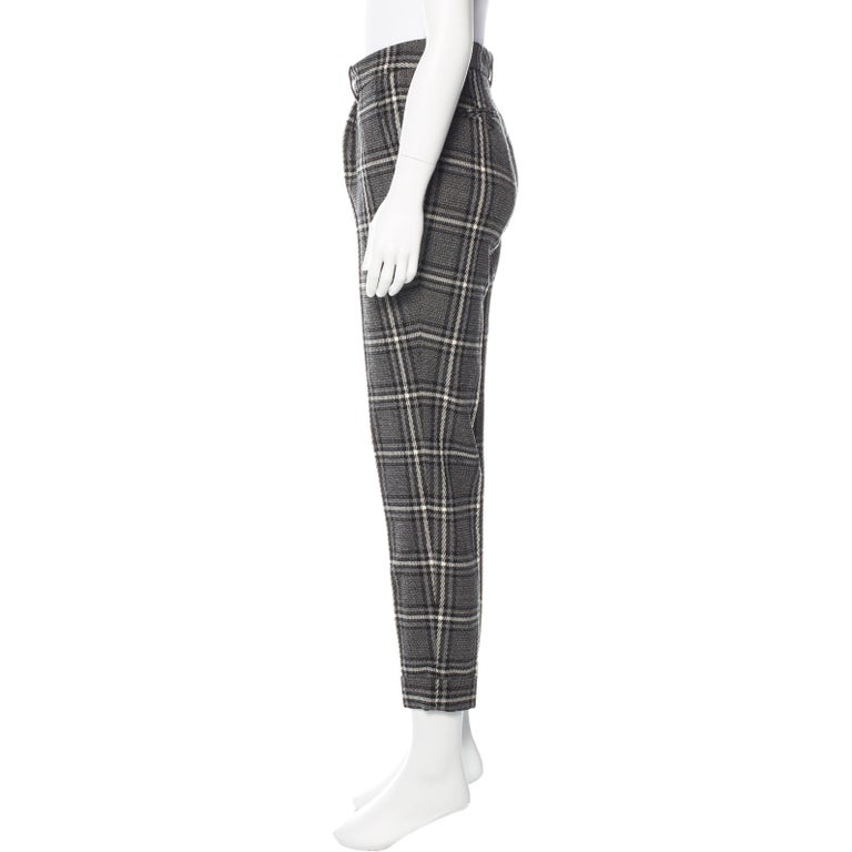 New Gucci Runway Wool Plaid Pants Slacks Sz 44 For Sale 1
