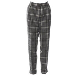 New Gucci Wool Plaid Pants Slacks Size 44