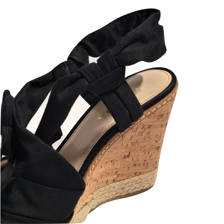 Prada Platform Wedge Espadrille Heels  For Sale 7